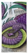 Purple Dragon Bath Towel