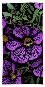 Purple Floral Fantasy Bath Towel