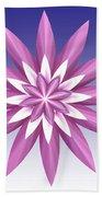 Purple Flower Hand Towel