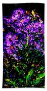 Purple Flower Still Life Bath Towel