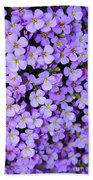 Purple Flowers - Rockcress Bath Towel