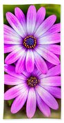 Purple Flowers Bath Towel