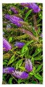 Purple Flowers Of Chiloe Bath Towel