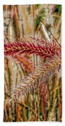 Purple Fountain Grass Abstract By H H Photography Of Florida Bath Towel