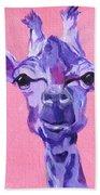 Purple Giraffe Bath Towel