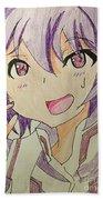 Purple Hair Bath Towel
