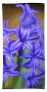 Purple Hyacinths Digital Art Bath Towel