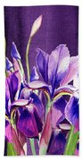 Purple Iris Dance  Bath Towel