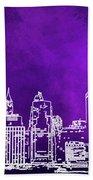 Purple Manhattan Bath Towel