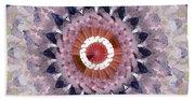 Purple Mosaic Mandala - Abstract Art By Linda Woods Bath Towel