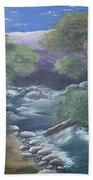 Purple Mountains Bath Towel