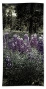 Purple On The Forest Floor Bath Towel