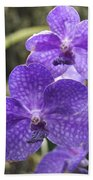 Purple Orchids Bath Towel