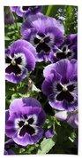 Purple Pansies Bath Towel