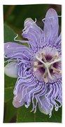 Purple Passionflower #2 Bath Towel