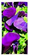 Purple Petals Bath Towel