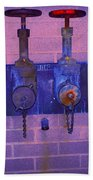 Purple Pipes Bath Towel