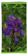 Purple Png Flower Bath Towel
