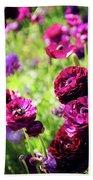 Purple Poppies Bath Towel