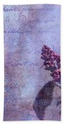 Purple Prose Bath Towel