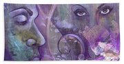 Purple Rain Bath Towel