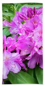 Purple Rhododendron Bath Towel