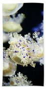 Purple Spotted Jellyfish  Bath Towel