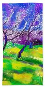 Purple Spring Bath Towel