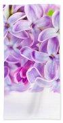 Purple Spring Lilac Flowers Blooming Bath Towel