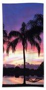 Purple Sunrise  Bath Sheet by Lisa Bentley