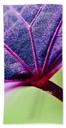 Purple Veins Bath Towel