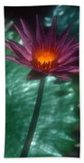 Purple Water Lily Bath Towel