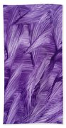 Purple Watercolor Art  Bath Towel