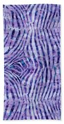 Purple Zebra Print Bath Towel