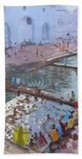 Pushkar Ghats Rajasthan Bath Towel