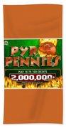 Pyro Pennies Bath Towel