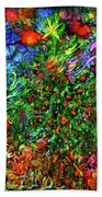 Qualia's Christmas Bath Towel by Russell Kightley