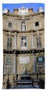 Quattro Canti In Palermo Sicily Bath Towel