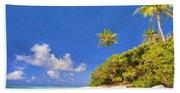 Quiet Tahiti Beach Hand Towel