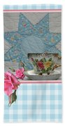 Quilted Star Card Bath Towel
