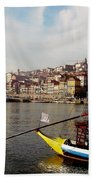 Rabelo Boats On River Douro In Porto 03 Bath Towel