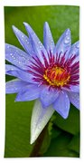 Rain Drenched Blue Lotus In Grand Cayman Bath Towel