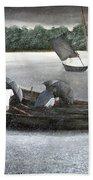 Rain In Bangladesh- An Acrylic Painting Hand Towel