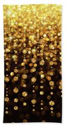 Rain Of Lights Christmas Or Party Background Bath Towel