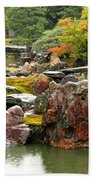 Rain On Kyoto Garden Bath Towel