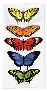 Rainbow Butterflies Hand Towel