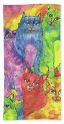 Rainbow Cats 2017 07 01 Bath Towel
