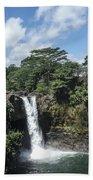 Rainbow Falls Hawaii Bath Towel