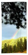 Rainbow In Pine Country Bath Towel