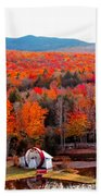 Rainbow Of Autumn Colors Bath Towel